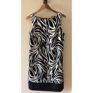 Zebra Print Sleeveless Dress